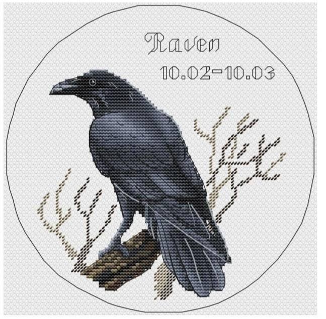 Ravens Reply Cross Stitch Chart